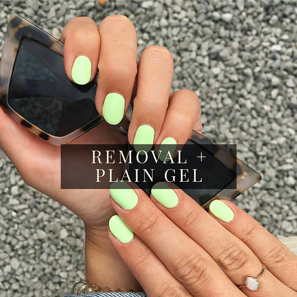 """A gel, manicure, plain, classy treatment called """"Removal + Plain Gel """" by Tiny X Studios"""